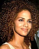 Halle Berry - Brunette, 4a, Celebrities, Medium hair styles, Afro, Female Hairstyle Picture