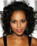Kerry Washington - Brunette, 3b, 3a, Celebrities, Medium hair styles, Female, Curly hair Hairstyle Picture
