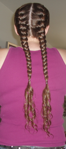 to old to wear braids  - Brunette, 3b, Long hair styles, Braids, Readers, Female Hairstyle Picture
