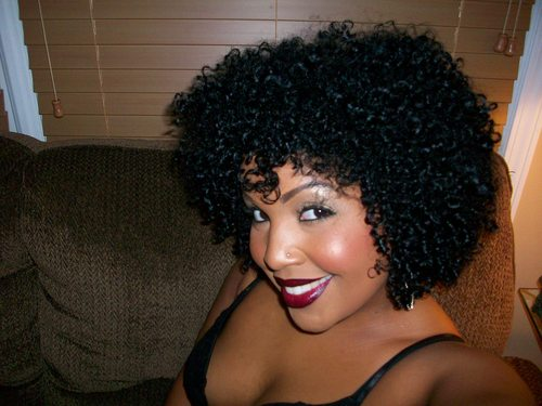 Naughty Curl - 3c, Medium hair styles, Afro, Readers, Female, Curly hair, Black hair, Adult hair Hairstyle Picture