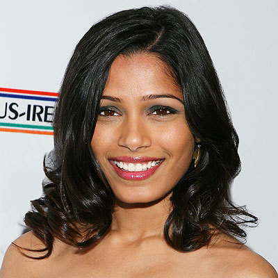 Freida Pinto - Celebrities, Wavy hair, Medium hair styles, Long hair styles, Female, Black hair Hairstyle Picture