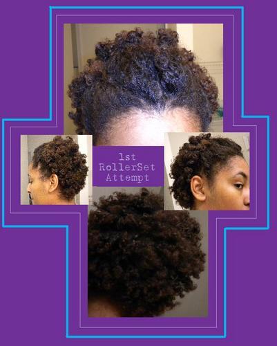Roller Set - Brunette, 4a, Medium hair styles, Kinky hair, Styles, Teen hair, Adult hair Hairstyle Picture