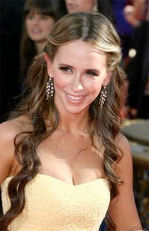 Jennifer Love Hewitt - Brunette, Celebrities, Long hair styles, Female, Curly hair, 2009 Emmy Awards Hairstyle Picture