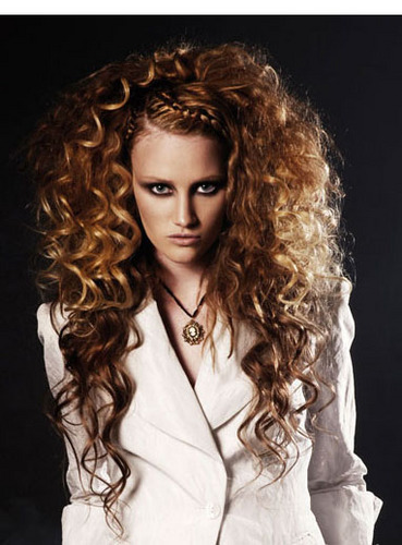 Braided Volume - Redhead, 3a, Long hair styles, Braids, Styles, Female, Curly hair, 2c Hairstyle Picture
