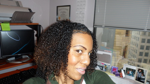 Simple Wash n Go - 3b, Medium hair styles, Female, Curly hair, Black hair, Adult hair Hairstyle Picture