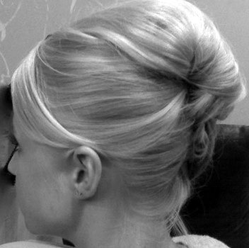 French Twist - Blonde, Updos, Wedding hairstyles, Styles, Female, Adult hair, Straight hair, Prom hairstyles, Formal hairstyles, Homecoming hairstyles, Knots, Buns, French twists Hairstyle Picture
