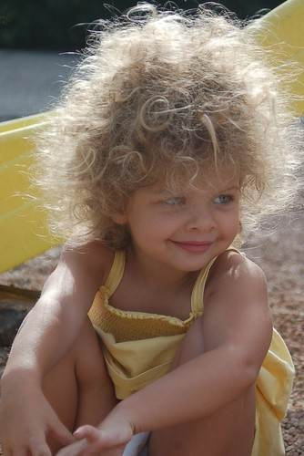 MIC in the morning sun - Blonde, 3b, Medium hair styles, Kids hair, Readers, Female, Curly hair, Natural Hair Celebration Hairstyle Picture