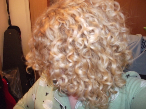 my curls - Blonde, 3b, Medium hair styles, Female, Adult hair Hairstyle Picture