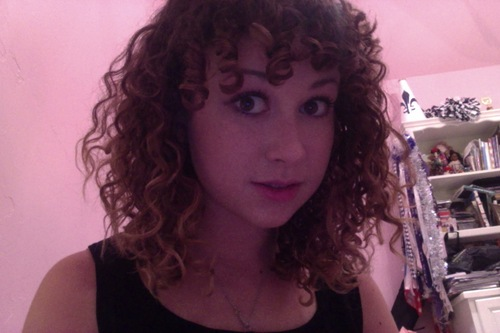 3B Brunette Curly Bangs - Readers Hairstyle Picture