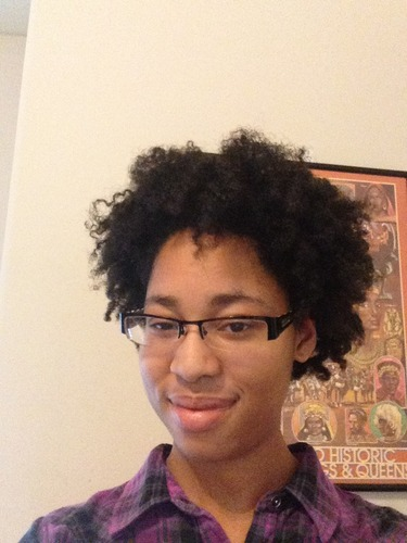 Curly Fro - 4b, Afro, Female, Teen hair, Black hair, Twist out, Curly kinky hair, 4c Hairstyle Picture