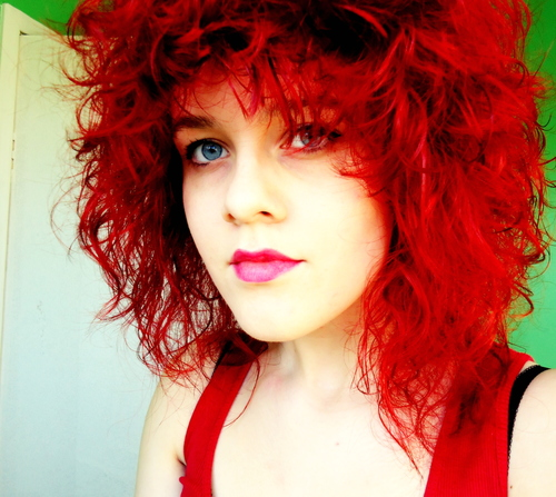 RED - Redhead, Medium hair styles, Readers, Female, Curly hair, Teen hair, Punk hair, Layered hairstyles Hairstyle Picture