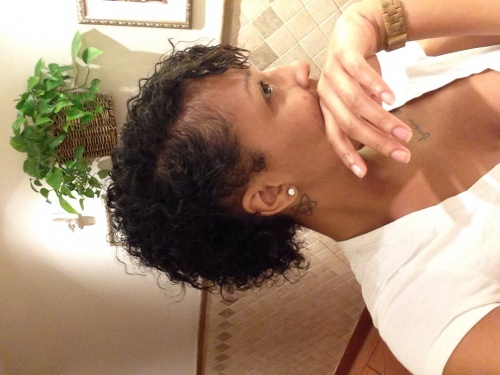 Wash and go short hair  - 3c, Curly hair, Curly kinky hair Hairstyle Picture