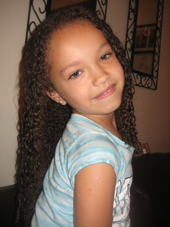 Naiya - Brunette, 3c, Medium hair styles, Kids hair, Readers, Female, Curly hair Hairstyle Picture