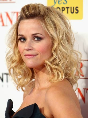 Reese Curls - Blonde, Celebrities, Medium hair styles, Female, Adult hair, Formal hairstyles Hairstyle Picture