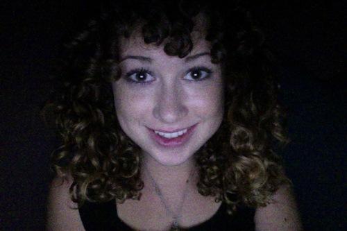 3B Brunette Curly Bangs  - Brunette, 3b, Short hair styles, Medium hair styles, Readers, Female, Teen hair, Makeovers Hairstyle Picture