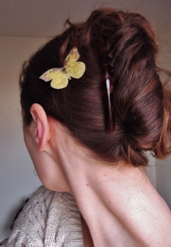 peacock french twist - Readers Hairstyle Picture