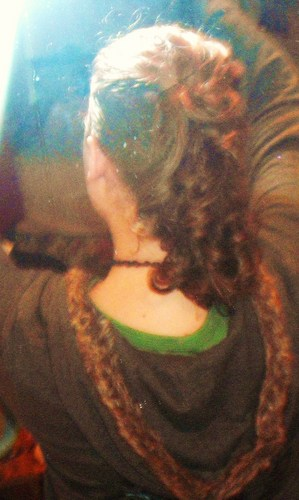 My attempt at a curlhawk - Brunette, Blonde, Medium hair styles, Long hair styles, Readers, Styles, Female, Curly hair, Teen hair, Mohawk, Punk hair Hairstyle Picture