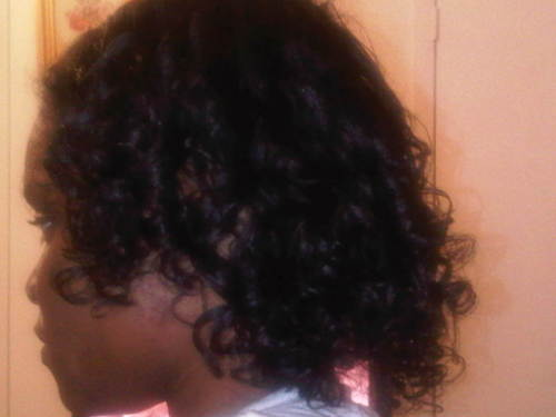 first atempt at flexi rods  - Medium hair styles, Wedding hairstyles, Readers, Female, Curly hair, Black hair, Adult hair, Spiral curls Hairstyle Picture