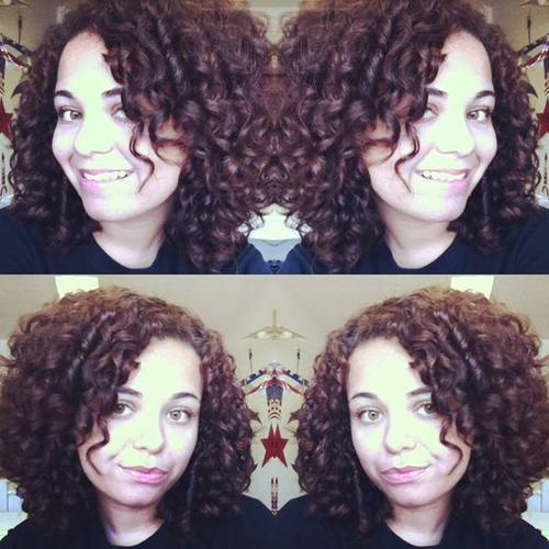 My wash n go curls - Brunette, 3b, Medium hair styles, Female, Adult hair Hairstyle Picture