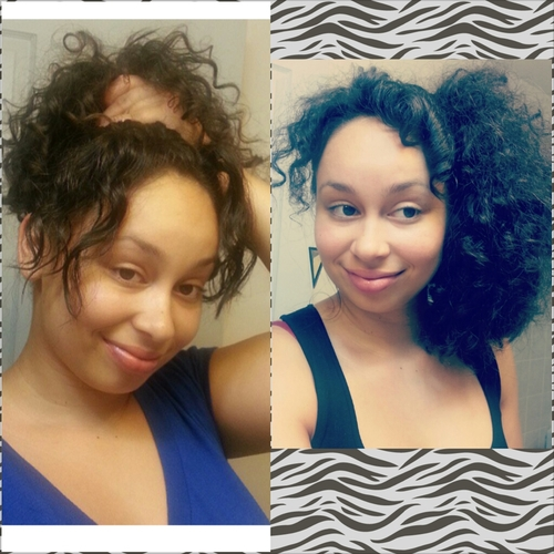 side pony w/curly bangs - Brunette, Kinky hair, Readers, Curly hair Hairstyle Picture