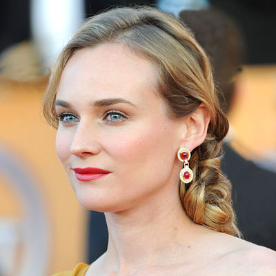 Diane Kruger  - Blonde, Celebrities, Wavy hair, Long hair styles, Braids, Female Hairstyle Picture