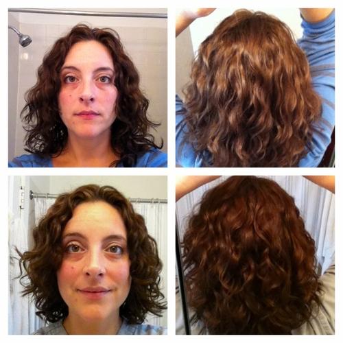 Devacut on 2c/3a hair - Brunette, 3a, Wavy hair, Medium hair styles, Female, 2c, Makeovers, Adult hair Hairstyle Picture