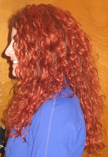 3a Side view some hair in front, - Redhead, 3a, Long hair styles, Readers, Female, Curly hair, Adult hair, Layered hairstyles Hairstyle Picture