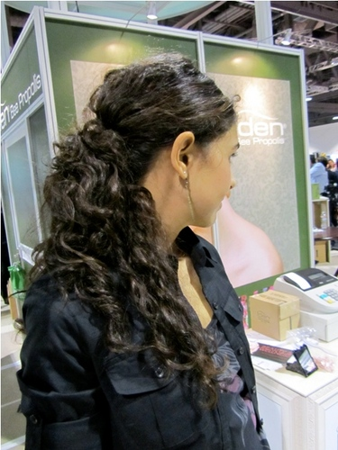 International Salon and Spa Expo - Brunette, Wavy hair, Long hair styles, Female, Curly hair, Black hair, Adult hair, Ponytail, Textured Tales from the Street Hairstyle Picture