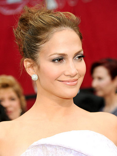 Jennifer Lopez - Blonde, Celebrities, Wavy hair, Medium hair styles, Updos, Long hair styles, Wedding hairstyles, Female, Curly hair, Knots, Buns Hairstyle Picture