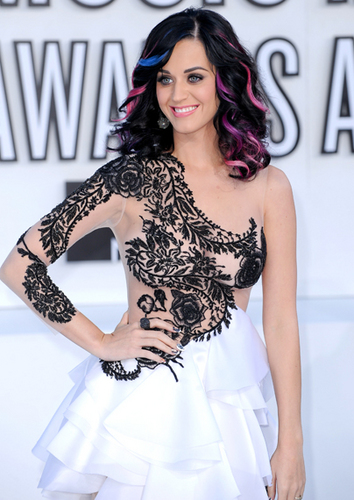 Katy Perry - Celebrities, Wavy hair, Medium hair styles, Female, Curly hair, Teen hair, Black hair Hairstyle Picture