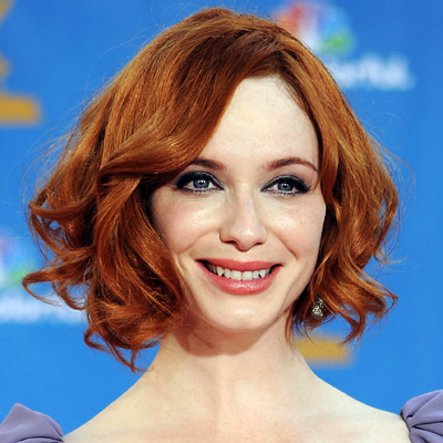 Christina Hendricks - Redhead, Celebrities, Wavy hair, Medium hair styles, Wedding hairstyles, Female, Curly hair Hairstyle Picture