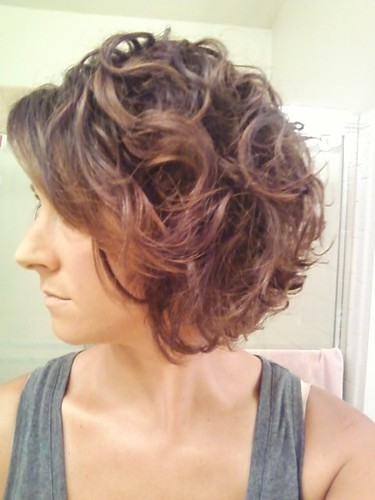 Curly bob after 8 months cg &amp - Brunette, 3a, Medium hair styles, Readers, Female, Adult hair Hairstyle Picture