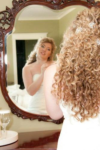 My hair on my wedding day - Blonde, 3b, 3a, Long hair styles, Wedding hairstyles, Female, Adult hair, Formal hairstyles Hairstyle Picture