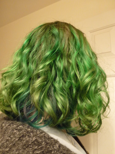 Green Curls! - Readers Hairstyle Picture