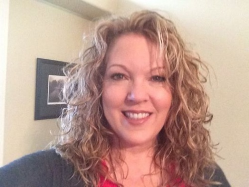 Luv my layered natural curls - Blonde, 3a, Medium hair styles, Readers, Female, Curly hair, Adult hair, Layered hairstyles Hairstyle Picture