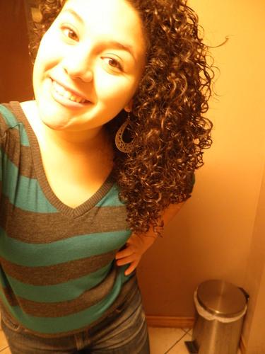 My hair :) - Brunette, 3c, Medium hair styles, Readers, Female, Curly hair, Teen hair, Spiral curls, Layered hairstyles Hairstyle Picture
