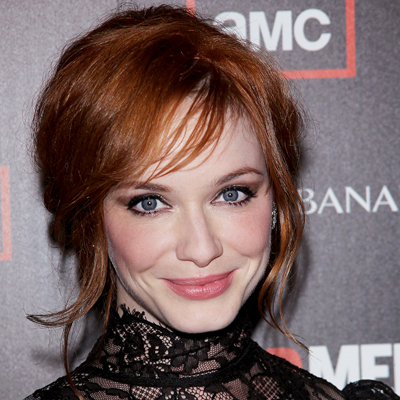 Christina Hendricks - Redhead, Celebrities, Wavy hair, Medium hair styles, Updos, Long hair styles, Female, Buns Hairstyle Picture