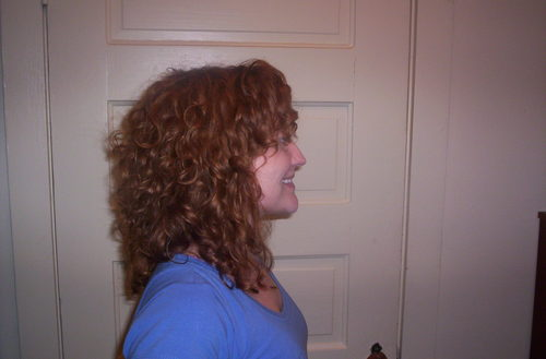 Haircut Right side - Redhead, 3b, 3a, Medium hair styles, Readers, Styles, Female, Curly hair, Adult hair Hairstyle Picture