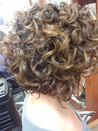 Beautiful Bob - Brunette, 3a, Mature hair, Medium hair styles, Readers, Styles, Female, Curly hair, Adult hair Hairstyle Picture