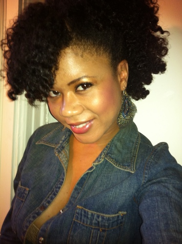 Twist out w/ side pinned  - 4a, Medium hair styles, Kinky hair, Readers, Female, Adult hair, Twist out Hairstyle Picture