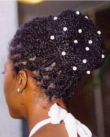 Two-Strant Twist Bun - Kinky hair, Long hair styles, Twist hairstyles, Wedding hairstyles, Styles, Female, Black hair, Adult hair, Buns Hairstyle Picture
