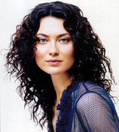 Shalom Harlow - Brunette, Celebrities, Long hair styles, Female, Curly hair Hairstyle Picture