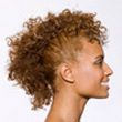 Curly Hair Style: Mohawk