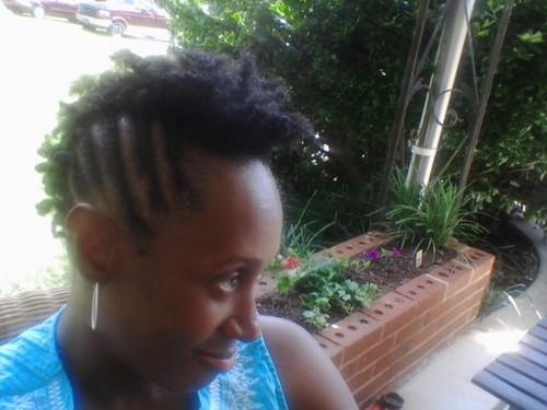 Side view of two-strand twist fr - Short hair styles, Readers, Female, Curly hair, Black hair, Adult hair, Natural Hair Celebration Hairstyle Picture