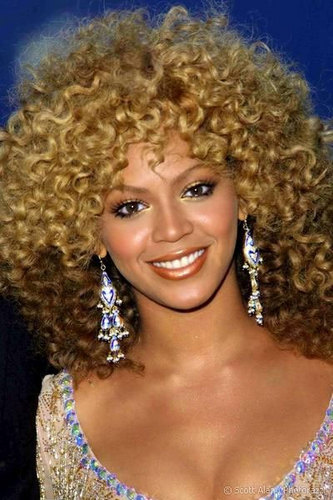 Beyonce Knowles - Blonde, 3c, Celebrities, Medium hair styles, Female, Curly hair Hairstyle Picture