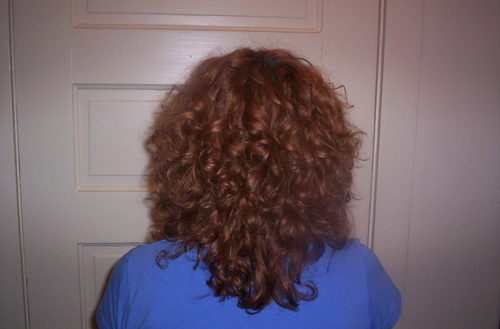 Haircut back - Redhead, 3b, 3a, Medium hair styles, Readers, Styles, Female, Curly hair, Adult hair Hairstyle Picture