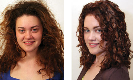 cathymakeover.jpg - Brunette, 3a, Medium hair styles, Fall hair, Female, Curly hair, Makeovers Hairstyle Picture