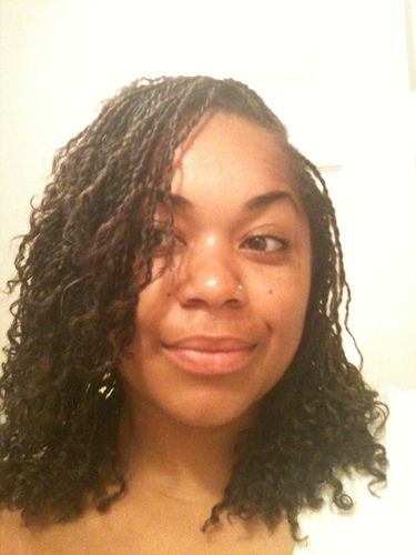 Mo's Mini Twists - Medium hair styles, Readers, Female, Curly hair, Black hair, Adult hair Hairstyle Picture