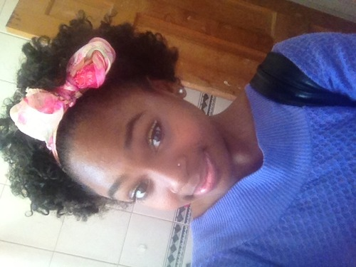 My Flexi-rod attempt 1  - 4a, 4b, Medium hair styles, Afro, Readers, Female, Teen hair, Makeovers, Black hair, Afro puff, Teeny weeny afro, 4c Hairstyle Picture
