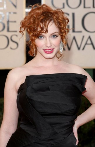 Christina Hendricks - Redhead, Celebrities, Medium hair styles, Updos, Special occasion, Female, 2c Hairstyle Picture